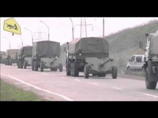 Под Донецком заблокировали колонну военной техники